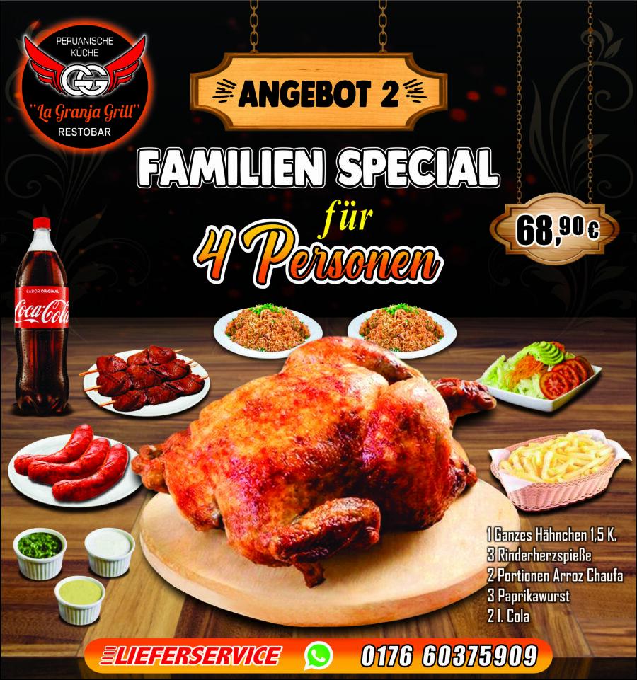 Familien Special für 4 Personen